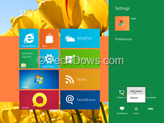 Shutdown Windows 8 from metro start screen thumb Faster Ways for Windows 8 Shutdown or Restart
