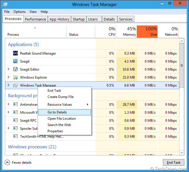how to run windows update from task manager