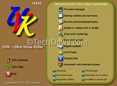Ultra Virus Killer thumb Ultra Virus Killer (UVK), Powerful Virus Removal and System Repair Tool