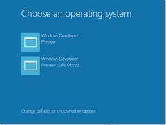 Windows 8 Developer Preview Safe Mode