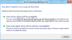 Windows 8 Disk Error checking