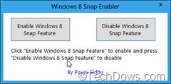 Windows 8 Snap Enabler