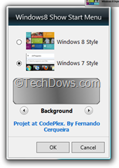 Windows8 StartMenu gadget options