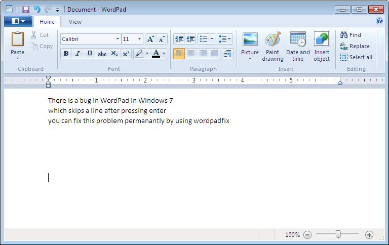 wordpad 2011