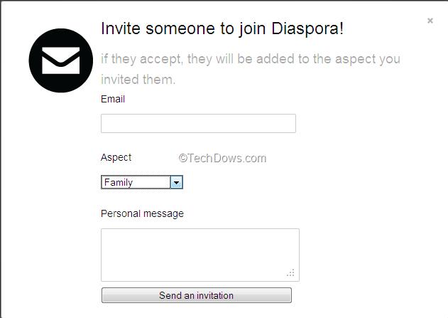 How to invite your friends to diaspora invite via email to diaspora stopboris Choice Image