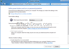 press powerbutton to shutdown windows 8