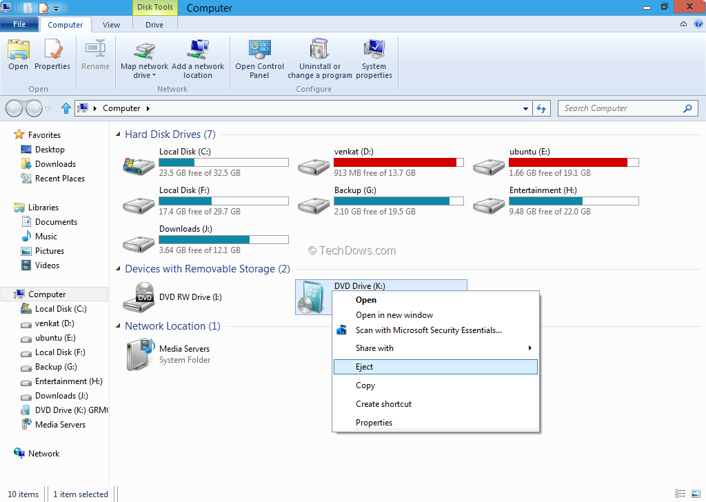 Mount disk images in Windows 8