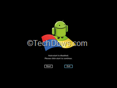 Android app in Windows 7