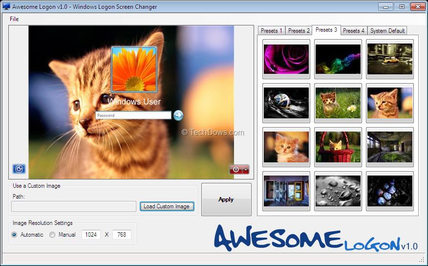 Awesome Logon, Change Windows 7 Logon Screen with a Custom Image