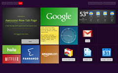 Awsome New Tab Page for Chrome offers Metro UI thumb Bring Metro UI Inspired New Tab Page to Chrome with Awesome New Tab Page Extension