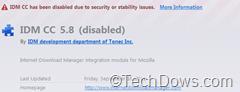 Firefox blocked add-on
