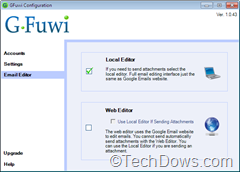GFuwi local and web editors