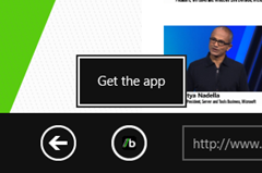Get the app from Windows store for associated web site