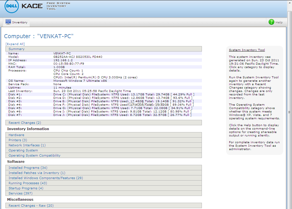 System Inventory Tool, Generates Detailed Hardware and Software ...