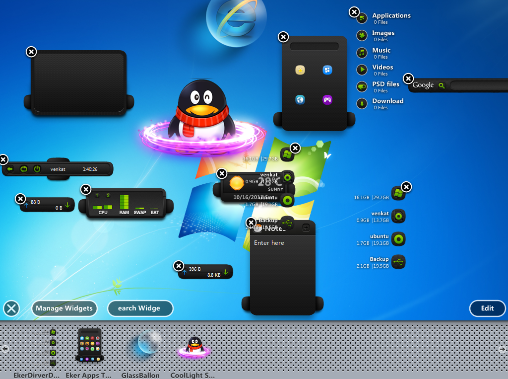 XWidget brings Mac OS X Dashboard to Windows 717 XWidget br