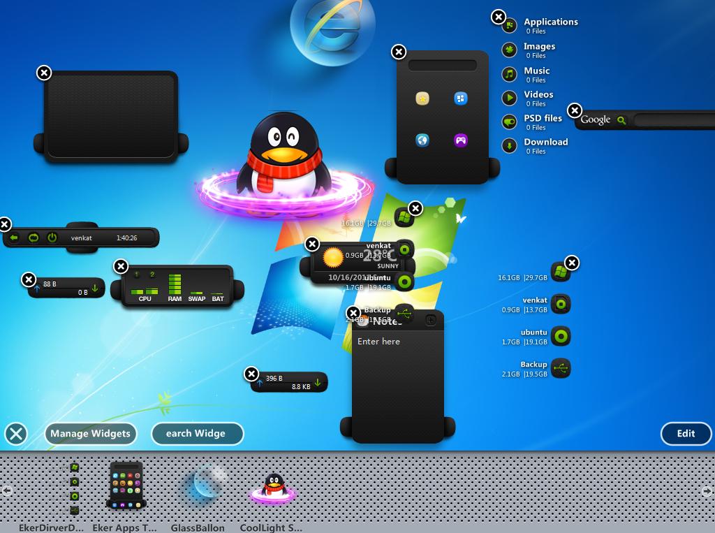 XWidget brings Mac OS X Dashboard for Windows