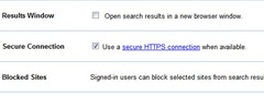 disable Google redirects to encrypted search