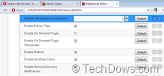 disabling Opera 12 hardware acceleration