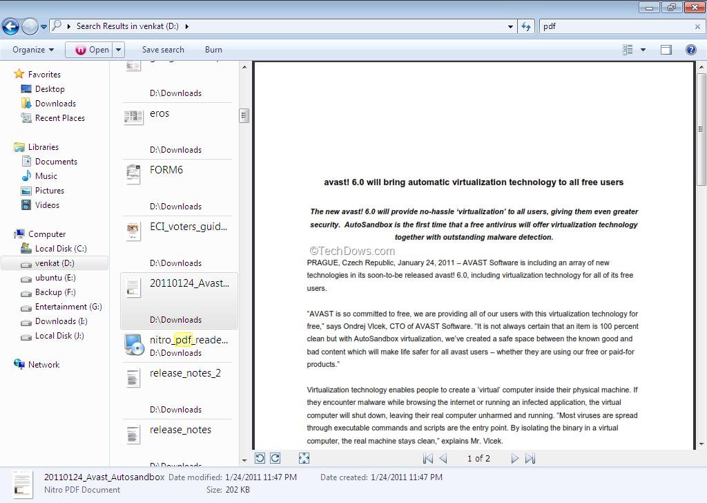 avast pdf reader