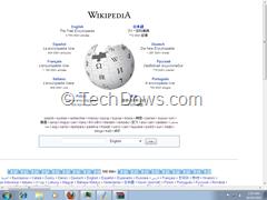 webpage as desktop background