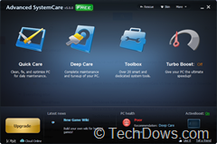 Advanced SystemCare 5 Final UI