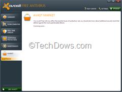 Avast Market in UI