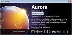 Firefox 10 Aurora