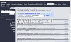 Gmail web clips customization