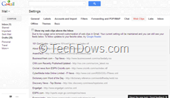 Web Clips customization in new Gmail removed