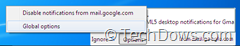 desktop notification option