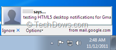 desktop notifications for Firefox to Gmail