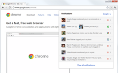 official Google plus notifications extension for Chrome