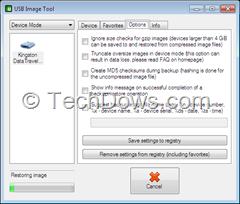 restoring USB drive image