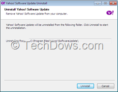 uninstall Yahoo Software update