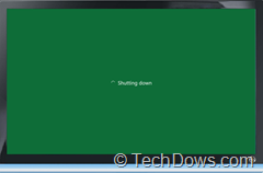 windows 8 shutting down