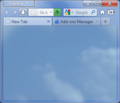 Firefox with custom tabs with Aero Glass effect