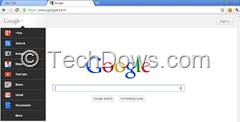 Google bar on Google homepage