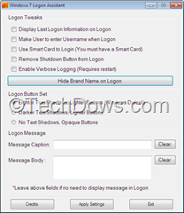 Windows 7 Logon Assistant