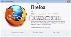 downloading Firefox 9.0.1 update