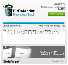 scan completed for bootkits thumb Download BitDefender's Bootkit Removal Tool