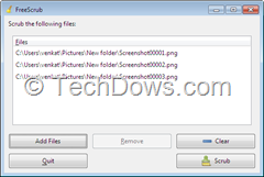 scrub image and documents