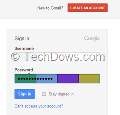 visual password hashing for Gmail in Firefox