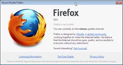 Firefox 10 final about dialog