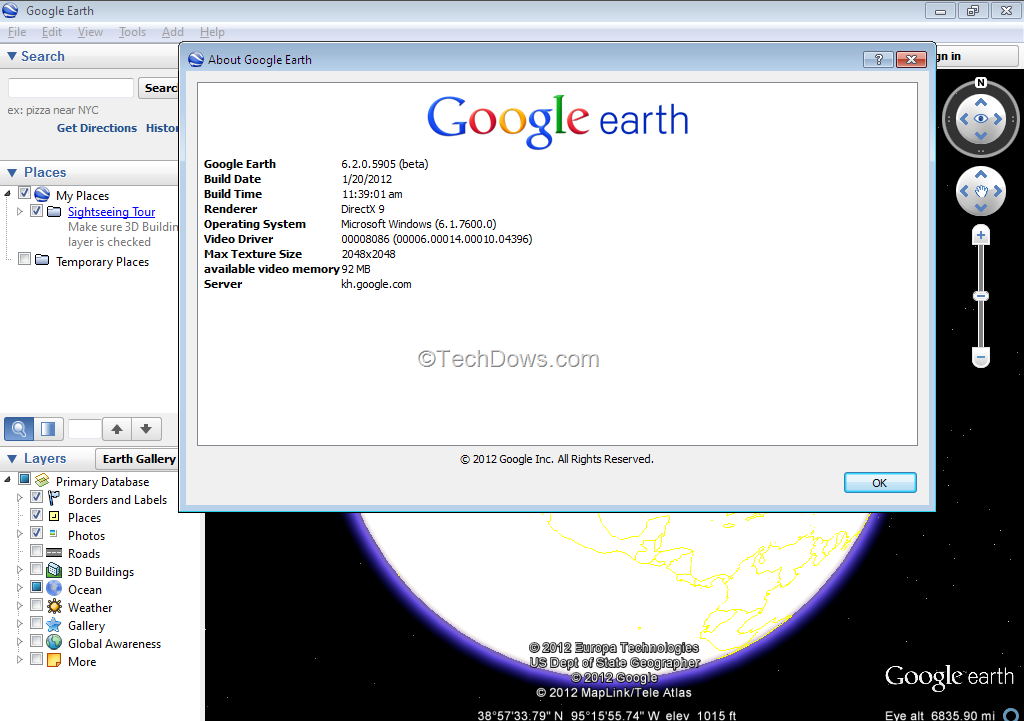 Google Earth 6.2 Released With A New Search Interface