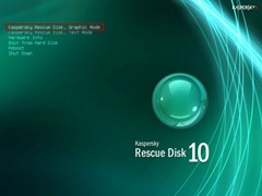 Kaspersky Rescue Disk wiht Graphic mode
