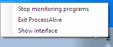 ProcessAlive Tray icon