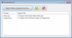 ProcessAlive thumb Auto Restart Crashed Programs with ProcessAlive