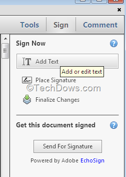How to sign signature on pdf