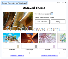 Theme Converter for Windows 8