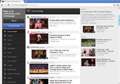 YouTube in Chrome